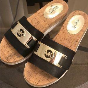 Micheal Kors sandal wedge slides.